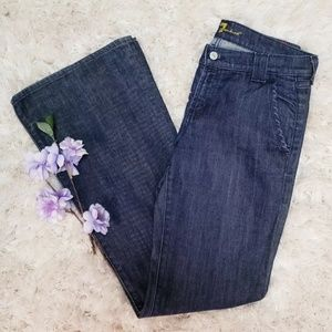 7 Seven For All Mankind Dojo Wide Flare Leg Jeans